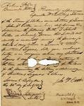 Sworn oath to not provide liquor to slaves; liquor license.