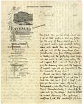 Alan Seeger letter from Paris, 1913