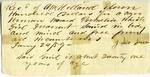 Receipt for sale of Permelia, a woman. January 24, 1859.