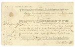 Warrant for Samuel Courtauld signed by Thomas Heyward Jr., June 13, 1788.