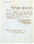 Receipt signed by J.K. Duncan for Iron for Mint Branch Repairs, New Orleans, 1856