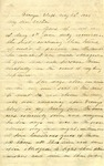 Letter: W.E. Johnson to W.E. Johnson, Sr., May 29, 1864