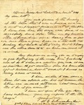 "Letter: W.E. Johnson to Lt. R.J. ""Robt"" Cunningham, June 18, 1864"