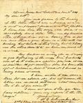 Letter: W.E. Johnson to Lt. R.J.