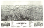 Bird's-Eye View of the City of Spartanburg, South Carolina, looking southeast, 1891 by Bird's Eye View