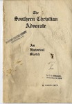 The Southern Christian Advocate: An Historical Sketch by Mason Crum